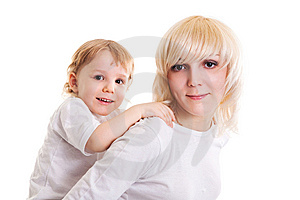 Young Mother And Little Son. Stock Photography - Image: 14494412