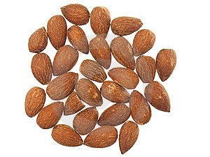 Almonds Isolated On White Background Royalty Free Stock Image - Image: 14495076