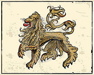 Heraldic Lion Stock Photo - Image: 14495790