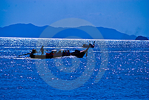 Thai Longtail Boat Stock Images - Image: 14496464
