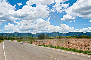 Road To Mountains Royalty Free Stock Photography - Image: 14497367