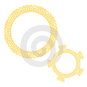 Golden Pattern Design Stock Photography - Image: 14497942