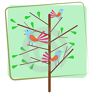 Bird Sitting On The Tree Royalty Free Stock Images - Image: 14497979