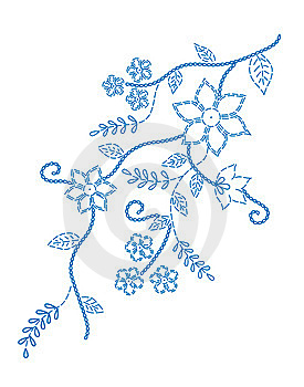 Marking Embroidered Design Royalty Free Stock Photos - Image: 14498438