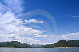 Landscape On The Dam Royalty Free Stock Photography - Image: 14498527