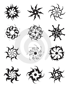Circle Tattoo Designs Stock Image - Image: 14499241