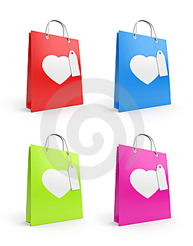 Bags For Valentine's Day Royalty Free Stock Images - Image: 14499299