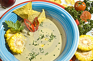 Cream Corn Soup Royalty Free Stock Images - Image: 14499669
