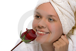 Beauty Girl In Towel After Shower Royalty Free Stock Image - Image: 1453586