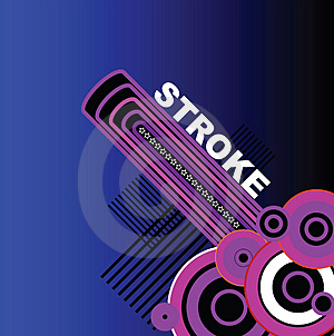 Blue Stroke Stock Images - Image: 1455424