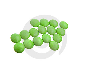 Green Tablets In Arrow Formation Stock Photos - Image: 14500793