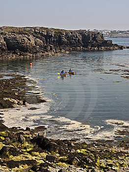 Canoes Paddling On Sea Stock Images - Image: 14500974