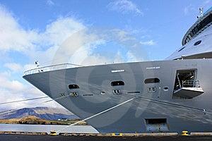 Cruise Ship Docked In Iceland Royalty Free Stock Photo - Image: 14501275