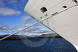 Cruise Ship Docked In Iceland Stock Photography - Image: 14501302