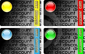Dark  Discount Cards Royalty Free Stock Photography - Image: 14502007