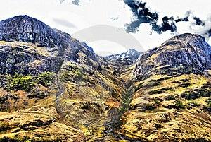 View Of Mountain Range Above Scotch Mountain Royalty Free Stock Image - Image: 14503426