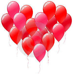 Balloons Heart Royalty Free Stock Images - Image: 14504319