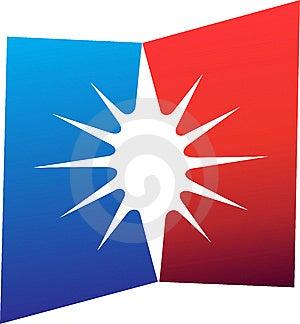Flag Logo Royalty Free Stock Photography - Image: 14504577
