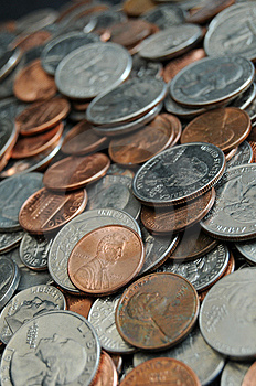 Pile Of Coins And Change Royalty Free Stock Images - Image: 14504889