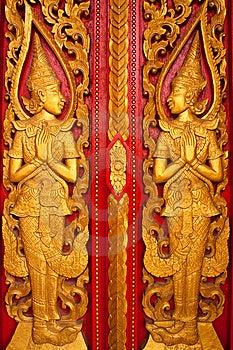 Thai Style Sculpture Stock Image - Image: 14506111