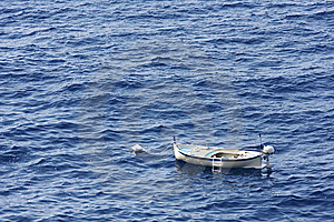 Fishing Boat At Anchor Stock Photography - Image: 14506172