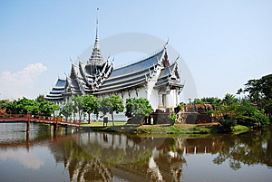 Ancient Palace Model In Thailand Stock Images - Image: 14508014