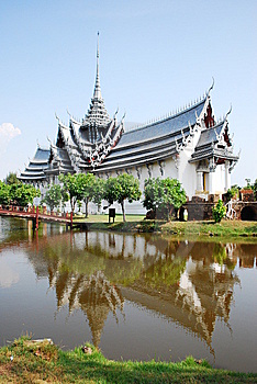 Ancient Palace Model In Thailand Stock Photography - Image: 14508022