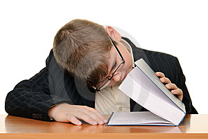 Boy Looks In Book Termination Royalty Free Stock Photography - Image: 14508337