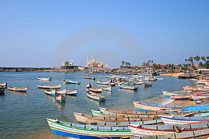 Vizhinjam Fishing Vessels Stock Photography - Image: 14508632