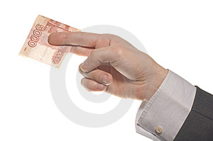 Businessman Hand With Money Stock Images - Image: 14510294