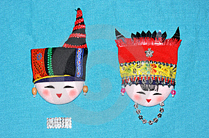 Finery Embroidery Of Chinese Minority Traditional Royalty Free Stock Photography - Image: 14510617