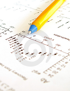 Chart And Pen Stock Photo - Image: 14510730