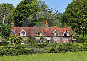 Traditioanl Brick And Flint English House Stock Photos - Image: 14510833