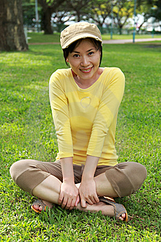 Asia Girl Enjoying Sunshine  Stock Image - Image: 14510861