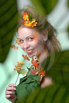 Portrait Of Forest Nymph Royalty Free Stock Photo - Image: 14513745