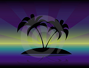 The Palm Trees  Silhouette Royalty Free Stock Photos - Image: 14514188