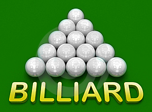 Billiard . Russian Pyramid Royalty Free Stock Photo - Image: 14514625