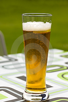 Glass Beer Or Lager,in The Restaurant Royalty Free Stock Photos - Image: 14514948