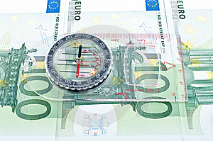 Currency And Compass Royalty Free Stock Images - Image: 14515719