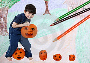 Pumpkin Patch Royalty Free Stock Images - Image: 14515989