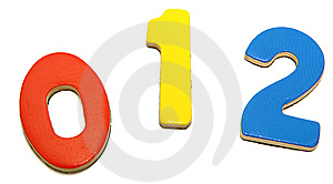 Colorful Magnetic Numbers 0 1 2 Royalty Free Stock Image - Image: 14517236