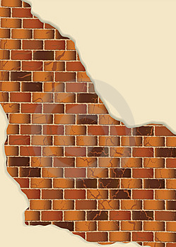 Grunge Brown Brick Wall Plaster Royalty Free Stock Photography - Image: 14518927