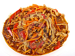 Chinese Fried Pork Meat Royalty Free Stock Images - Image: 14518969