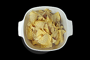 Tortilla Chips In Bowl Royalty Free Stock Photos - Image: 14520148