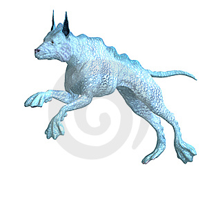 Bizarre Alien Dog.3D Rendering With Clipping Path Royalty Free Stock Images - Image: 14521899