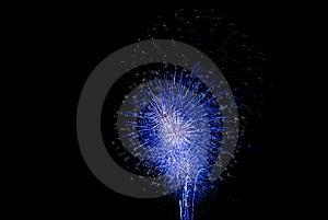 Blue Firework Royalty Free Stock Photo - Image: 14524265