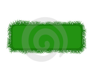Summer Banner With Fresh Grass Royalty Free Stock Images - Image: 14526839