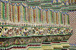 Tile Mosaic Pillar Asian Style Stock Photos - Image: 14527423