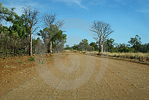 Outback Road & Blue Sky Stock Image - Image: 14528201