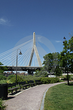 Zakim Bridge Stock Photo - Image: 14528260